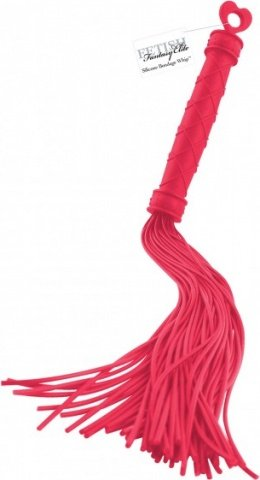 Плеть elite silicone whip red красная